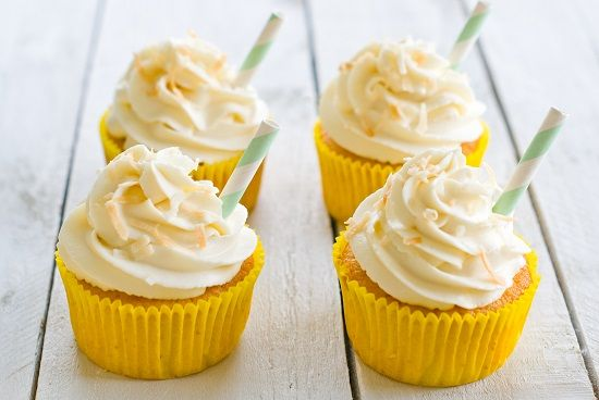 Lilie Bakery #cupcakes #pinacolada #recette #recipe