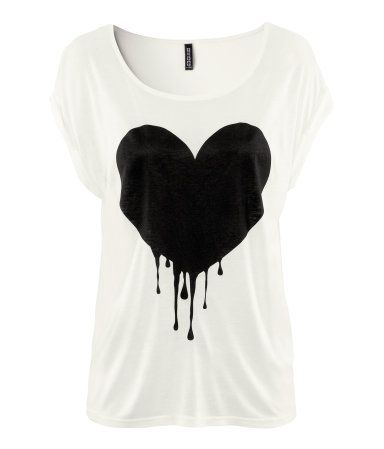 Dripping heart tshirt