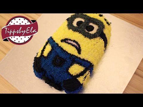 Minion Torte Minions selber machen Anleitung Deutsch - YouTube