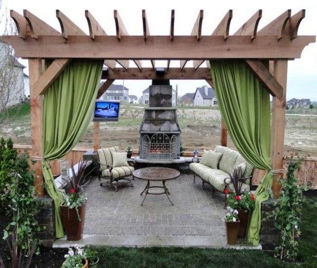Heart Touching Ideas Of Gazebo Roof Or Cover: 17 Best Images About Pergola Gazebo On Pinterest