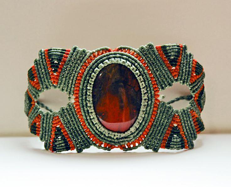 SANAM Bloodstone macrame bracelet