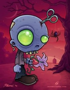 Cute Zombie Cartoon