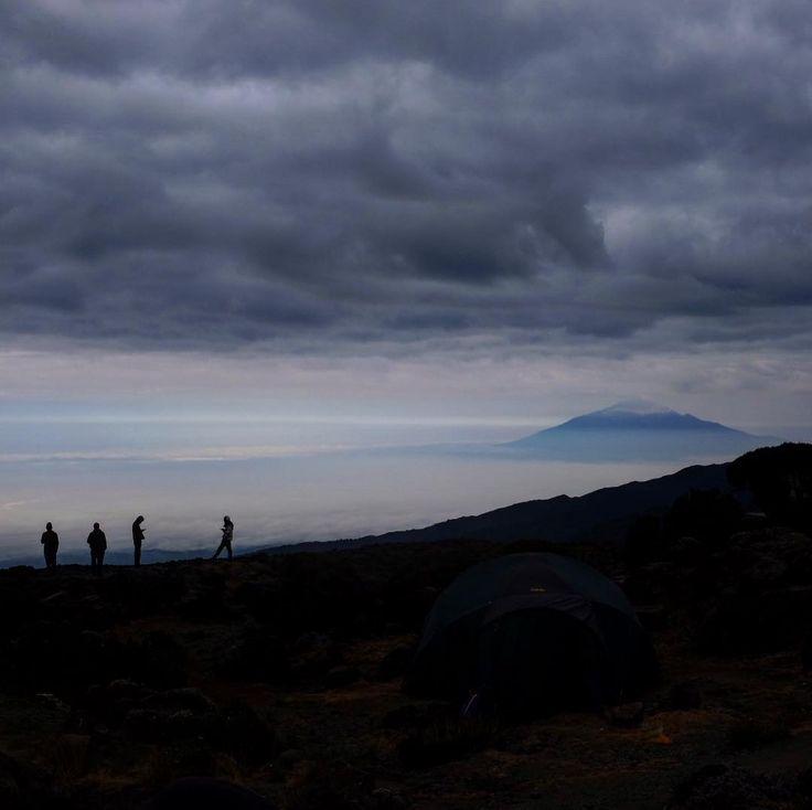 First image from climbing #kilimanjaro . This is Mount Meru viewed from Kilimanjaro. #mountkilimanjaro #mountmeru #treking #tanzania #actionchallenge @actionchallenge @jonesy_matt @designdept