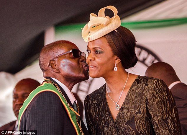 GRACE MUGABE URGES HER FRAIL HUSBAND ROBERT MUGABE, 93, TO NAME HIS SUCCESSOR AMID RUMOURS SHE WANTS TO BE PRESIDENT