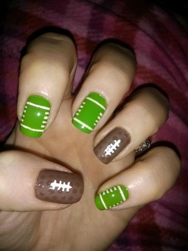 Pin By Sue Ellen Quinlan On Pretty Nails Pinterest Football Nail Art And
