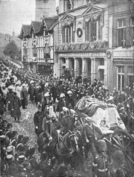 Edward VII. and the Kaiser following the coffin of Qn Victoria through the streets of Windsor. Happier Times #37days