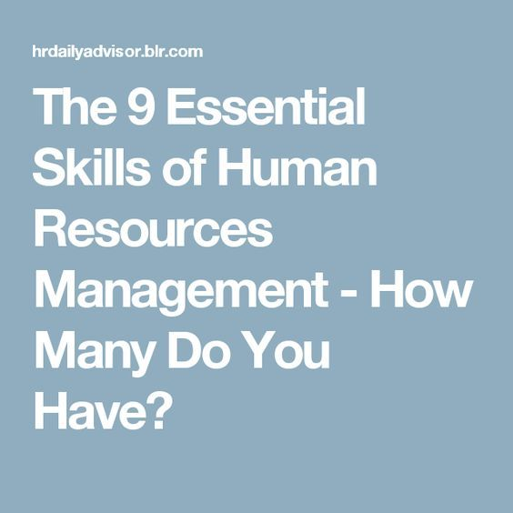 general idea about human resource management The world's 30 most innovative corporate human resources management and leadership the team culture allows all members to fully contribute ideas.