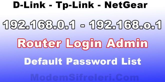 192 168 0 1 Modem Router Router Setting Tp Link