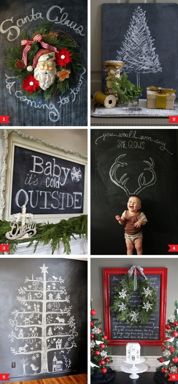 Chalkboard decorating ideas for Christmas by thebigbiglemon