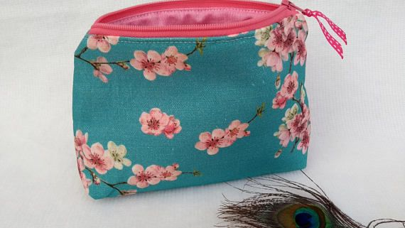 Handmade Cosmetic Makeup Bag Choice of Size Small or Large