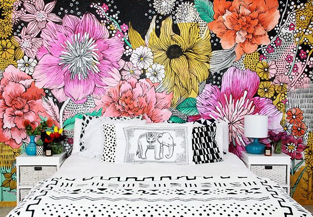 25+ Best Ideas About Flower Mural On Pinterest