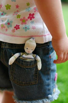 steiner inspired pocket doll tutorial - uses old socks instead of traditional Waldorf materials