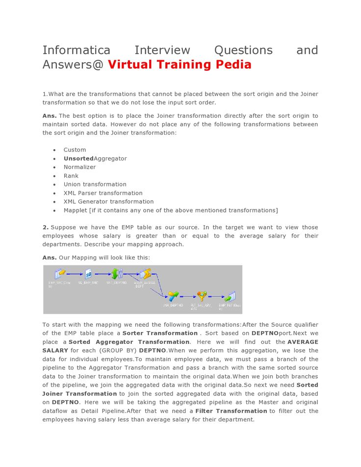 Here Are Some Interivew Questions On Informatica.VTP Provides Informatica  Online Training.Join VTP