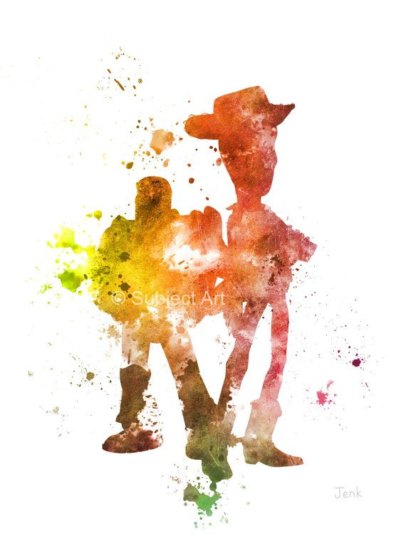 Toy Story Woody and Buzz ART PRINT illustration by SubjectArt
