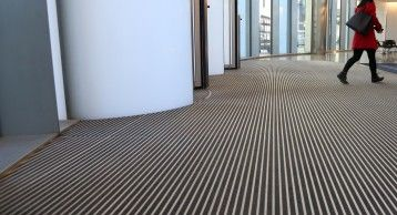 INTRAform Heavy Duty Entrance Matting, 1 New Ludgate, London  intrasystems.co.uk  #flooring #matting #matt #entrance #entrancedesign #design #beautiful #contemporary #smart