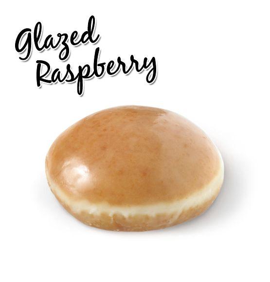Krispy Kreme // Glazed Raspberry - Bursting with sweet raspberry jam and coated in our classic glaze.