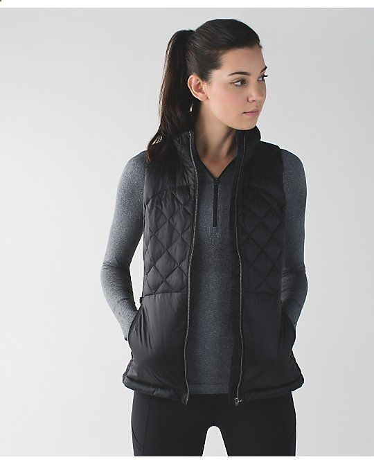 Nice >> down for a run vest | womens running jackets | lululemon athletica
