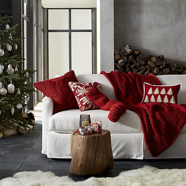 Red Cable Knit Throw Blanket Cozy Up To Our Striking