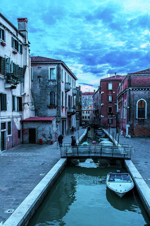 George Westermak Photograph - one of many normal channels of Venice on a summer evening by George Westermak#GeorgeWestermak #travel #FineArtPrints# landscape #Italy #Photography