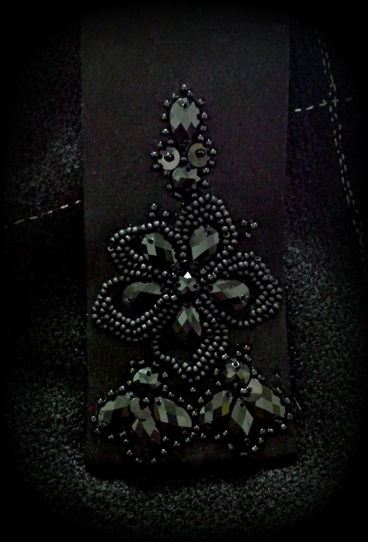 Only Black. Belt detail. Beads and sequins.