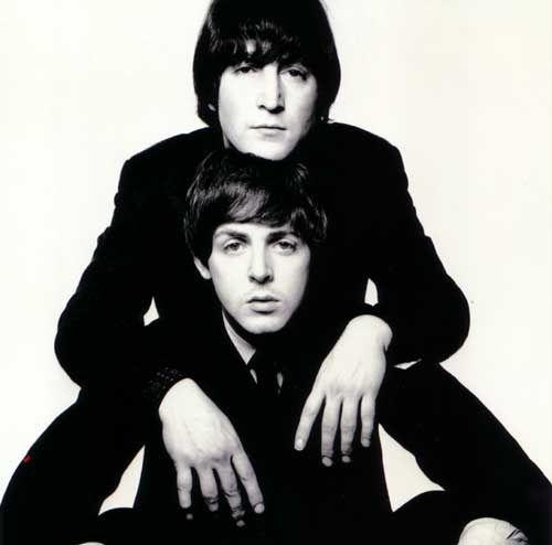 John Lennon and Paul McCartney     I love their music so much!!!