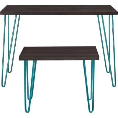 altra furniture altra owen retro desk and desk stool set in