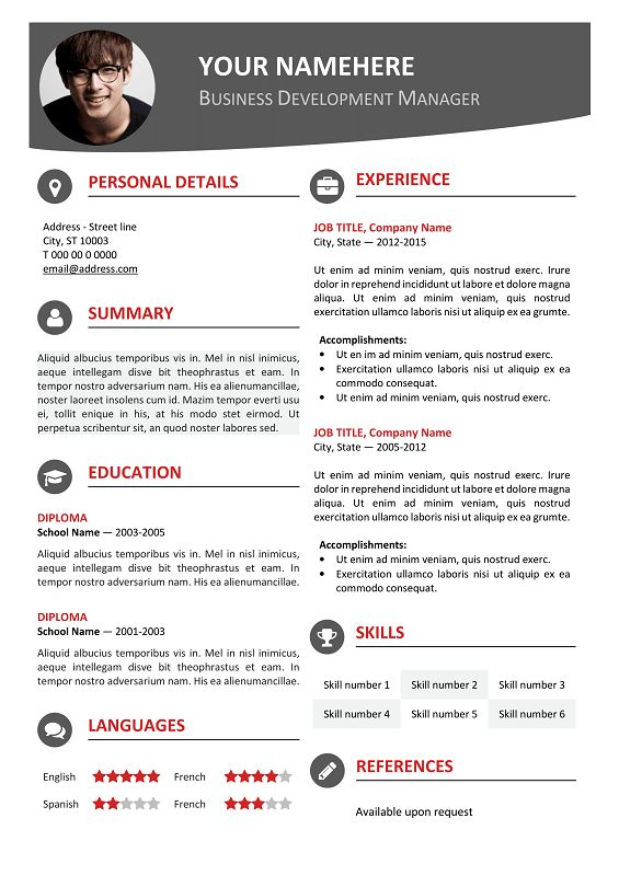 134 best classic resume templates images on pinterest free resume hongdae is a free modern resume template one page clean with colored top banner editable cv template for ms word yelopaper Images