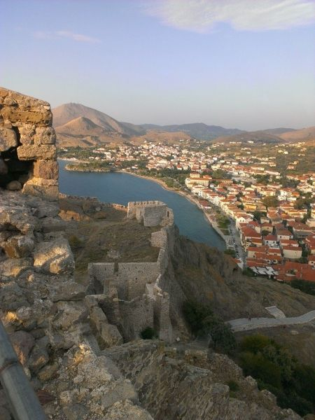 The town of Myrina from the Castle