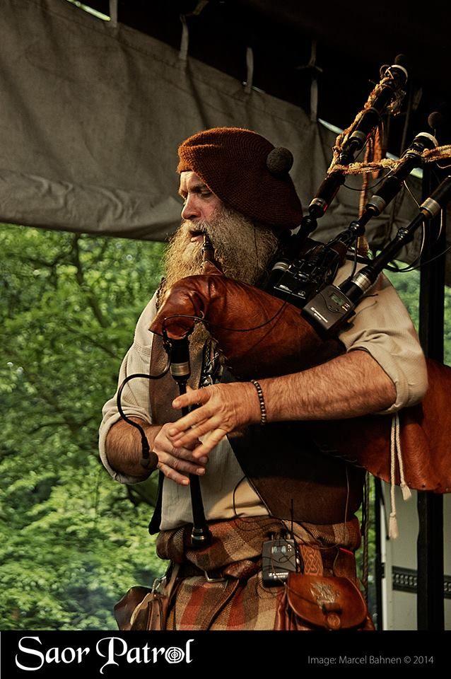 "Scottish piper Charlie ""Chick"" Allan of Saor Patrol"