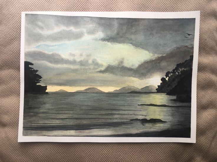 Watercolor painting of Tellaro