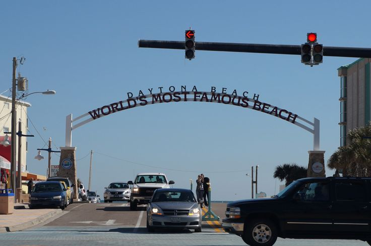 Daytona Beach sign Florida.
