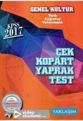 2017 KPSS Genel Kültür Çek Kopart Yaprak Test Yaklaşım Yayınları