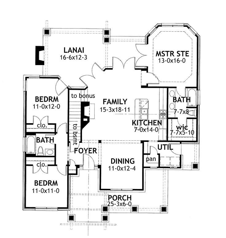 Home Plans Homepw09964 1 421 Square Feet 3 Bedroom 2