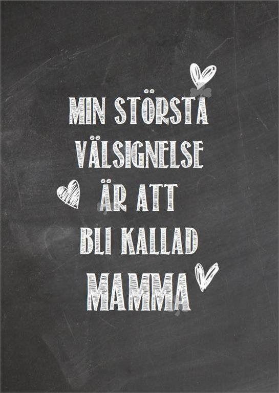 Print, Typografi, ATT BLI KALLAD MAMMA, Humor, Shabby, Krittavla