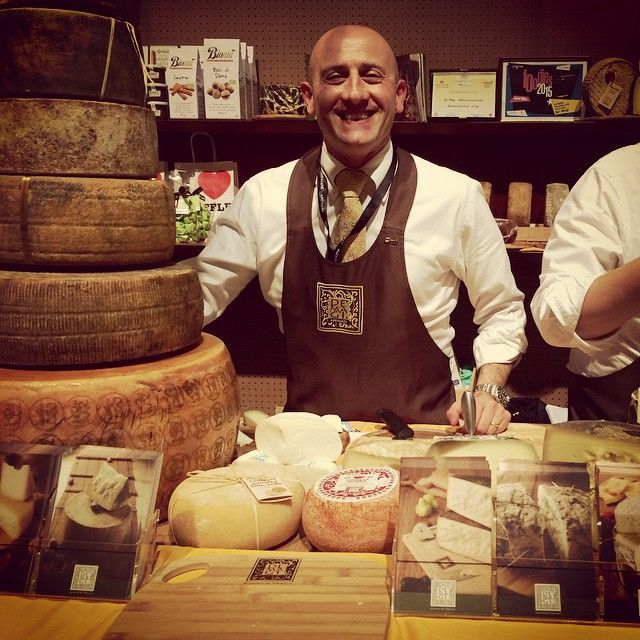 The cheese man himself, Andrea Magi, with his fabulous creations!