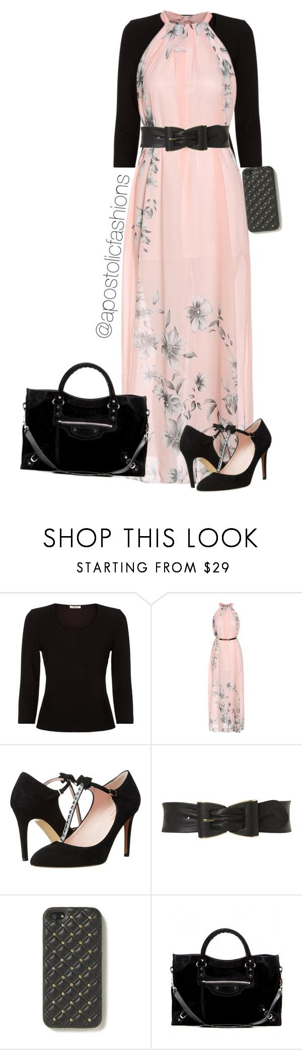 """Apostolic Fashions #830"" by apostolicfashions ❤ liked on Polyvore featuring Precis Petite, PinkBlush, Kate Spade, Jane Norman, The Case Factory and Balenciaga"