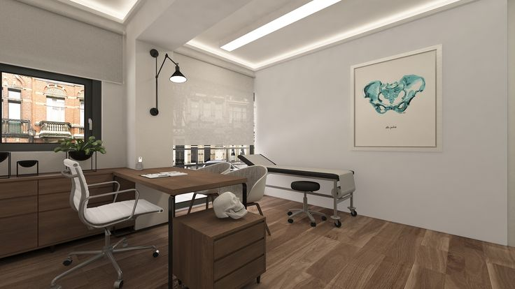 MEDX3 Three medical offices with shared waiting room were designed in the central Square of Acharnes (pathological, neurological and cardiological). Design Team: Margiolakis Evangelos, Petroula Christina Sepeta | 3d visualization: LOOM design – Terpsichori Latsi | Pelvis Watercolor Print by LyonRoadArt #interior #design # medical #offices