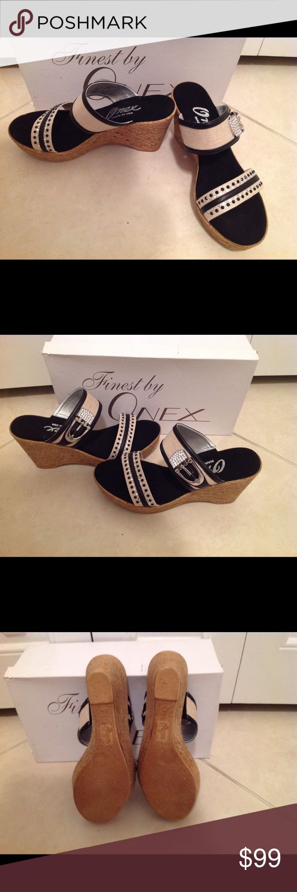 New, Onex Bettina Wedge Sandals Brand new, still in box. Flawless condition Onex Shoes Wedges