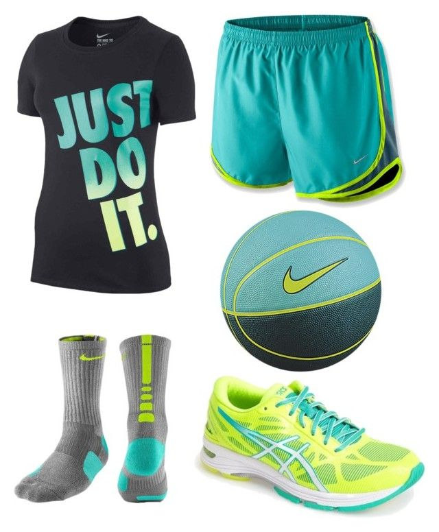 Basketball outfit :) by ckay3 on Polyvore featuring polyvore, fashion, style, NIKE and Asics
