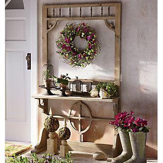 Screen door plant shelf...love it!