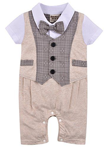 ZOEREA Baby Boys Kids Toddler Gentleman One-piece Romper Jumpsuit Outfit Clothes ** Check out the image by visiting the link.