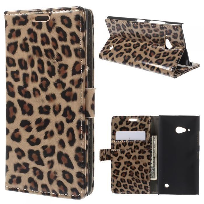 Leopardfodral till Nokia Lumia 735. Köp snygga fodral idag via länken: http://www.phonelife.se/mobilfodral