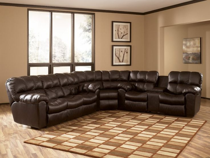 Man Cave Outlet Store : Max chocolate reclining sectional collection by ashley