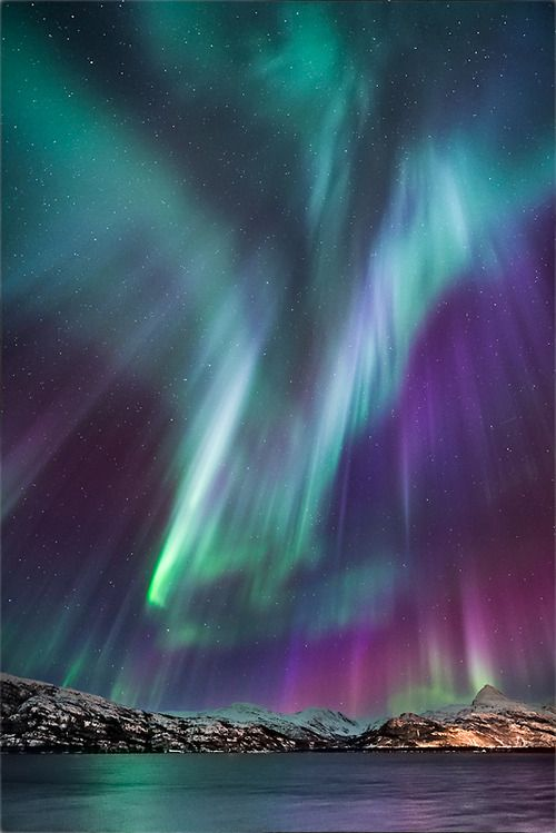The Northern Lights, or the Rainbow Bridge of ancient lore...