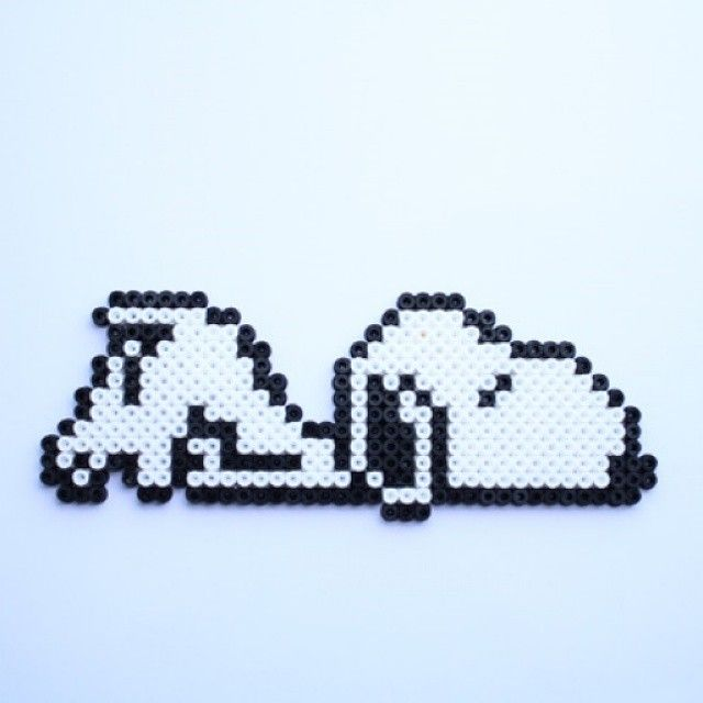 Snoopy hama perler beads by Little Miss Productive