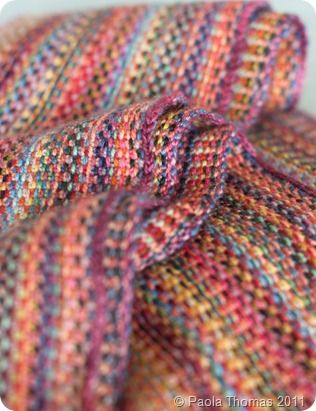 linen stitch (knit) scarves - i've made three of these scarves and have a que of three or four more. They turn out beautifully.