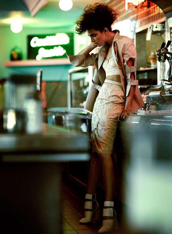 Femininely Edgy Fashion - The Flare Magazine Pulp Fashion Editorial Stars Catrina Stella (GALLERY)
