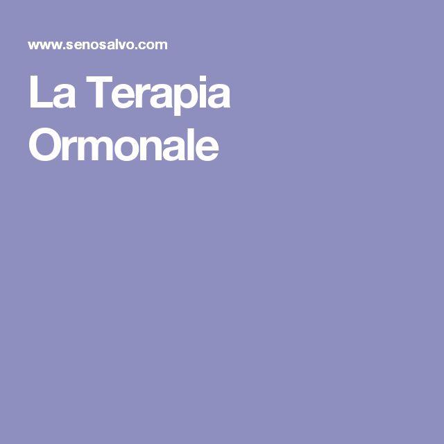 La Terapia Ormonale