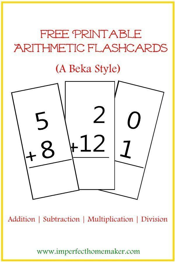 Free Printable Abeka Worksheets Free Printable Abeka Style Arithmetic Flash Cards Addition Flashcards Abeka 3rd Grade Math Worksheets Free abeka worksheets