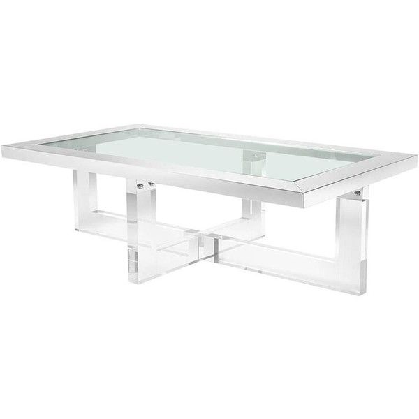 Shiffrin Coffee Table Rectangular Acrylic And Clear Glass ($5,516)  liked  on Polyvore featuring home, furniture, tables, accent tables, coffee tables,  ...